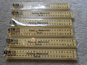 Cuisenaire ETA Lot 6 Folding Meter Stick Teacher Homeschool Math Kit