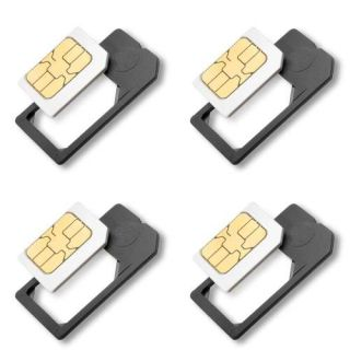 4X Small Mini Micro Sim Card Adaptor Adapter Converter US Seller