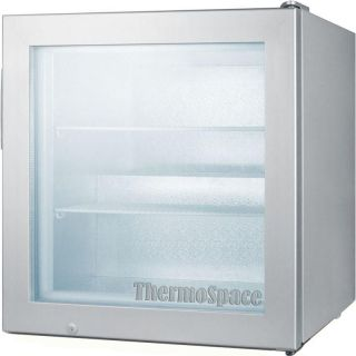Commercial Countertop Freezer w Locking Door Compact Mini Merchandiser Fridge