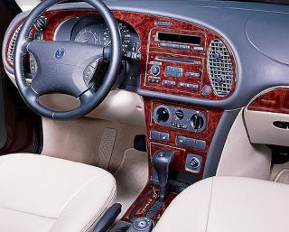 Saab 9 3 9 3 93 Interior Burl Wood Dash Trim Kit Set 1999 99 2000 2001 2002 02