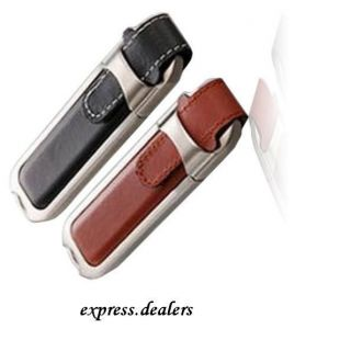 New 128 GB Leather USB Flash Drive USB2 0 Memory Stick Jump Pen Drive Fast SHIP