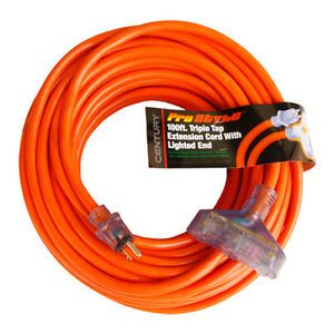 Century Contractor Grade 100' 10 Gauge Power Extension Cord 10 3 Triple Tap Plug