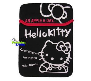 "Cute Hello Kitty Sleeve Case Laptop Bag Case 4 14"" MacBook Black"