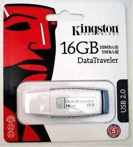 16GB Kingston DataTraveler USB Drive Flash Card Genuine