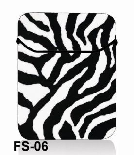 "14"" 14 4 inch Zebra Print Neoprene Laptop Bag Sleeve Case Netbook Cover Pouch"