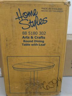 Home Styles 5180 30 Arts Crafts Round Dining Table Cottage Oak