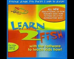 Learn 2 to Fish Kids Childrens Fishing Software Learning Educational Game CD ROM