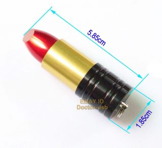 Simulation Lipstick Style Memory Flash USB Drive 1GB 2GB 4GB 8GB 16GB Stick Red
