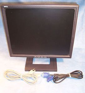 17 Flat Screen LCD Office Computer Monitor Power Cord & VGA Cable