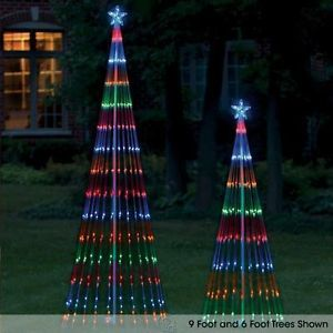 The LED Light Show Artificial Christmas Tree 6 Foot Multicolored Lights Prelit