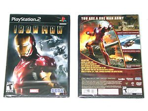New Iron Man 1 PlayStation 2 Original Black Label Version Brand New Game Ironman 010086631166