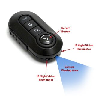 1080 HD Key Chain Fob Keychain Hidden Spy Camera DVR Video Recorder Night Vision