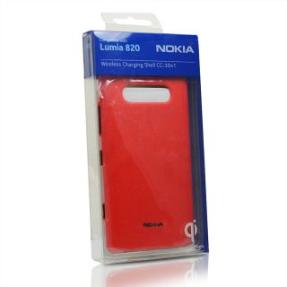 Genuine Nokia Lumia 820 Wireless Charging Shell CC 3041RD Red