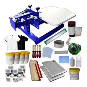 Single Color Screen Printing Kit 1 Color DIY Silkscreen Print Printer Supplies
