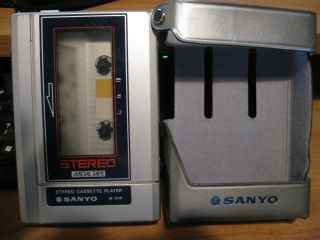 Sanyo M G10STEREO Cassette Player Metal Tape w Case