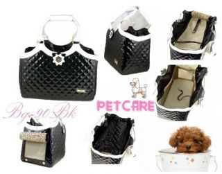 Gorgeous Pet Dog Cat Carrier Tote Handbag Diamond Stitch Style