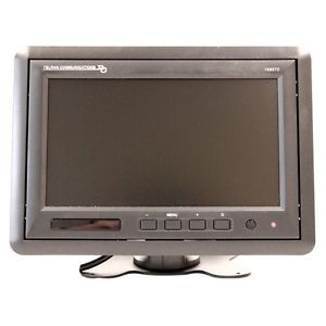Security Camera Monitor 9 inch LCD Monitor with Flush Wall Mount Black