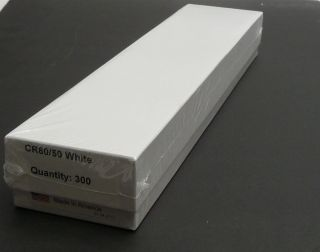 Lot 300 PVC Blank White Plastic ID Badge CR80 50mm Thermal Cards 101 005 366