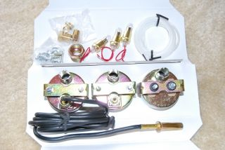 Triple Gauge Kit Oil Pressure Amp Meter Water Temp