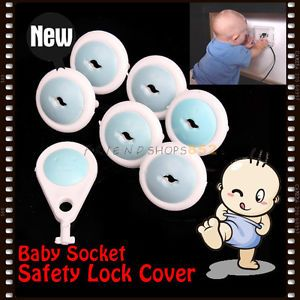 Electric Socket Baby Child Electrical Security Plastic Safety Safe Lock Cover