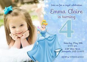 Cinderella Princess Birthday Party Invitation Digital Printable