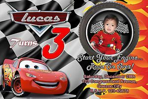 Personalized Birthday Invitations Cars