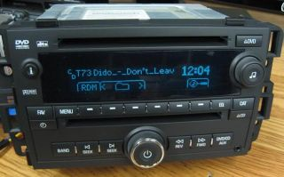 2007 10 GM Chevy Tahoe Yukon Silverado DVD Radio CD