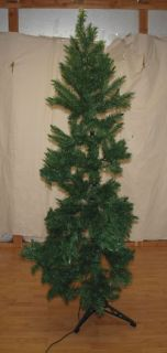 New Christmas Tree Artificial 6 5' Corner Spruce Holiday Pre Lit Lights Quarter