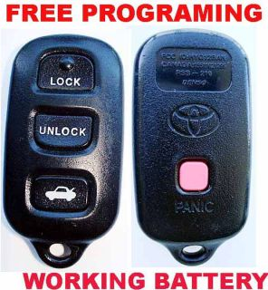 2001 2002 2003 2004 Toyota Prius Celica Highlander Keyless 4 But Remote HYQ12BAN