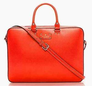 Kate Spade Tanner Wellesley Computer Laptop Brief Case Bag Used Coral Color