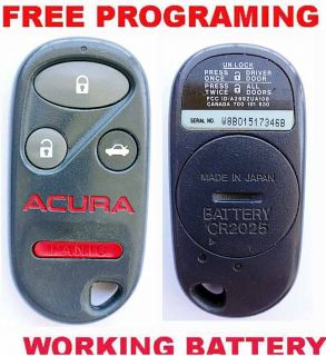 Acura CL Integra Red Logo Keyless Car Alarm Entry Key Remote A269ZUA108