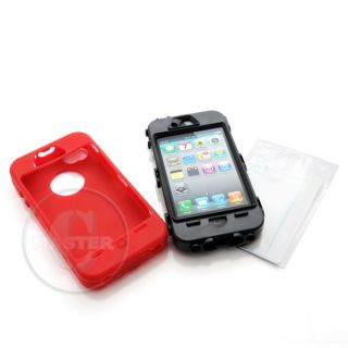 Tough G Shock Heavy Duty Hard Case iPhone 4 Red Flame
