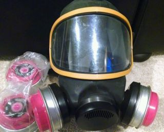 MSA Duo Twin Full Face Mask Respirator Package All New Large