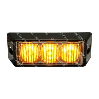 3W LED Tow Truck Utility Service Security Vehicle Deck Warning Light Head Amber