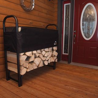Firewood Storage Rack Holder Fireplace Log 4 Foot Wood