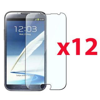 12 Clear Screen Protector Skin Cover Guard for Samsung Galaxy Note 2 II N7100