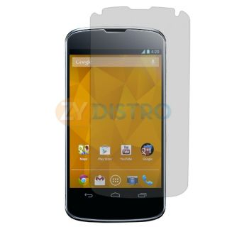 4X Clear LCD Screen Protector Cover for LG Google Nexus 4 E960