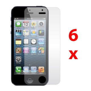 6X Aniti Glare Matte LCD Screen Protector Guard Film for Apple iPhone 5 5th Gen