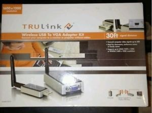 TruLink Wireless USB to VGA Adapter Kit Brand New
