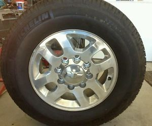 "2011 2013 Chevy Silverado HD 2500 8 Lug 18"" Wheels Rims Tires w TPMS Sensors"
