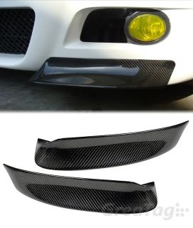 99 06 BMW E46 M3 Real Carbon Fiber Front Bumper Lip Splitter