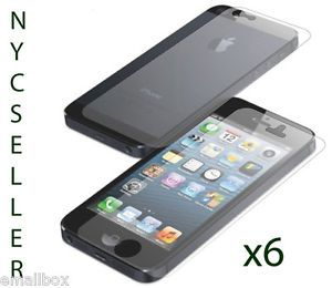 6X Full Body Front Back Screen Protector for Apple iPhone 5 5th Gen New