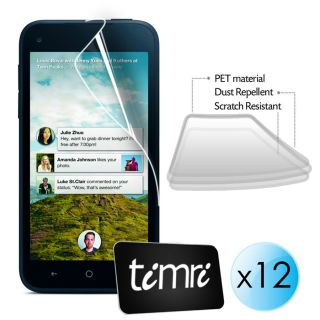12 in 1 Pack Timri LCD Screen Protector Guard for Facebook HTC First