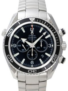 New in Box Omega 2210 50 00 Seamaster Planet Ocean Men's Chronograph Watch