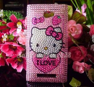 Pink Cute Hello Kitty Bling Hard Protect Case Cover for HTC Windows Phone 8S IL