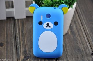 Lovely Cute Teddy Bear Silicone Soft Cover Case for HTC Explorer Pico A310e