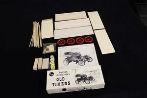 Complete Vintage Hudson Miniatures Model Car Kit Old Timers Series 1903 Ford