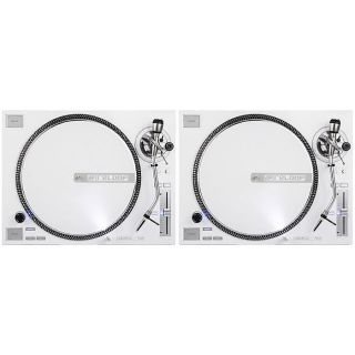Reloop RP7000 Quarz Driven Direct Drive Turntables Gloss White Pair