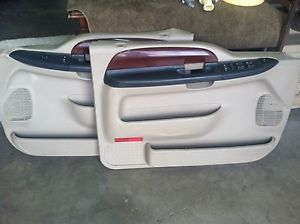 1999 2007 Ford F250 F350 Tan Lariat Front and Rear Door Panels with Switches