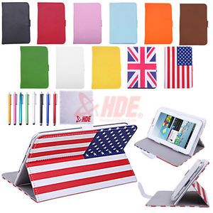 "Universal 7"" inch Android Tablet Case Folio PU Stand Leather Folding Flip Cover"